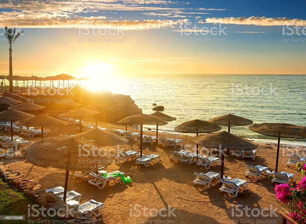 Red sea beach stock photo
