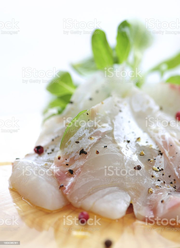 Red Sea Bream Carpaccio royalty-free stock photo