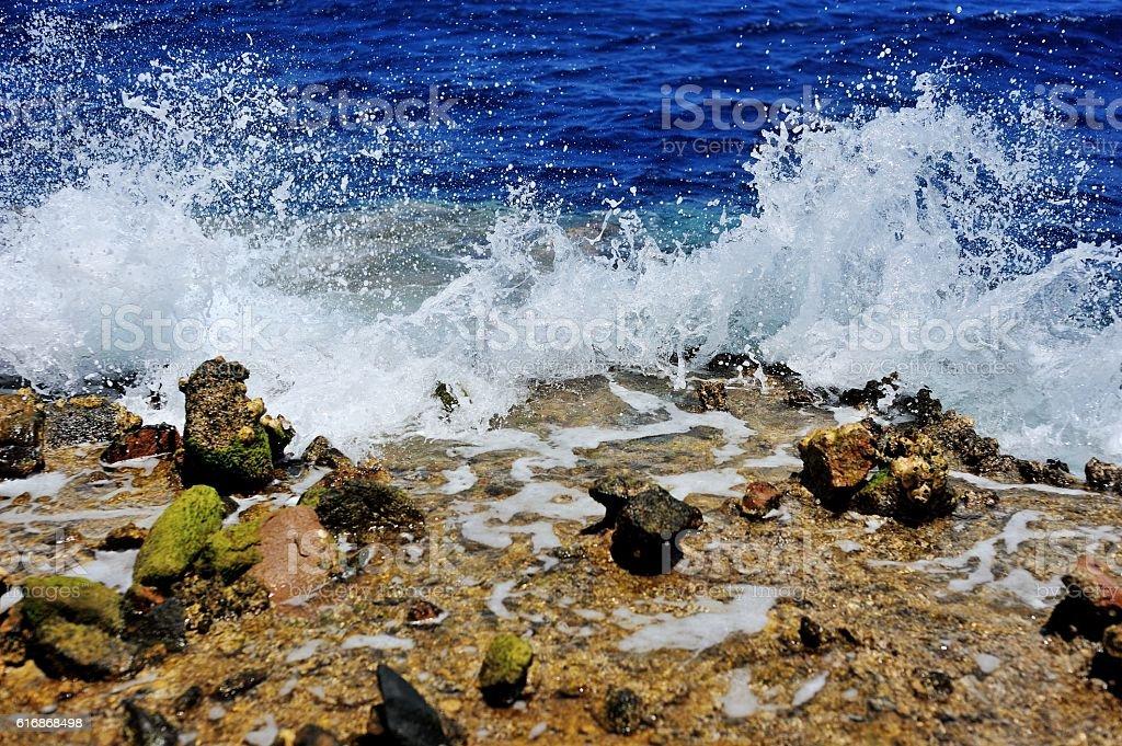 Red Sea coastline in Egypt stock photo