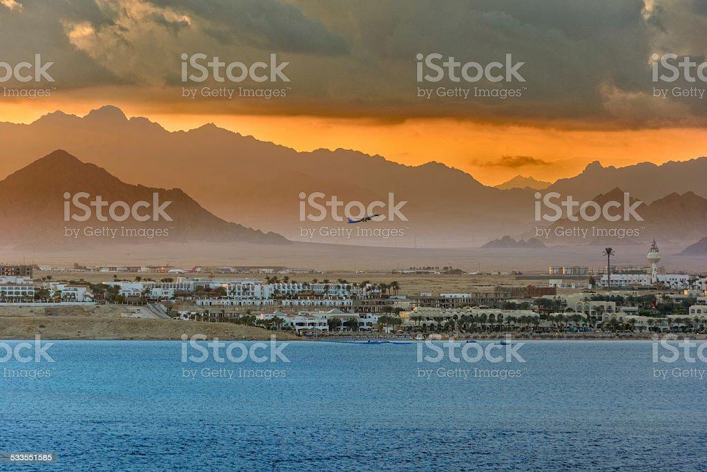 Red Sea coastline stock photo