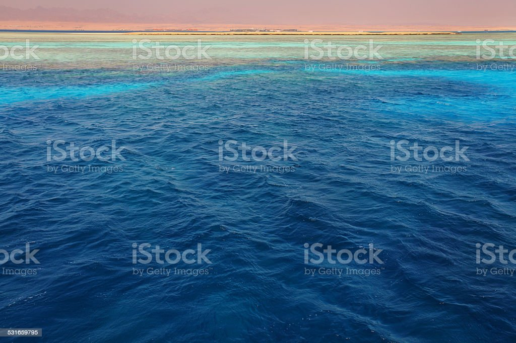 Red Sea colors stock photo