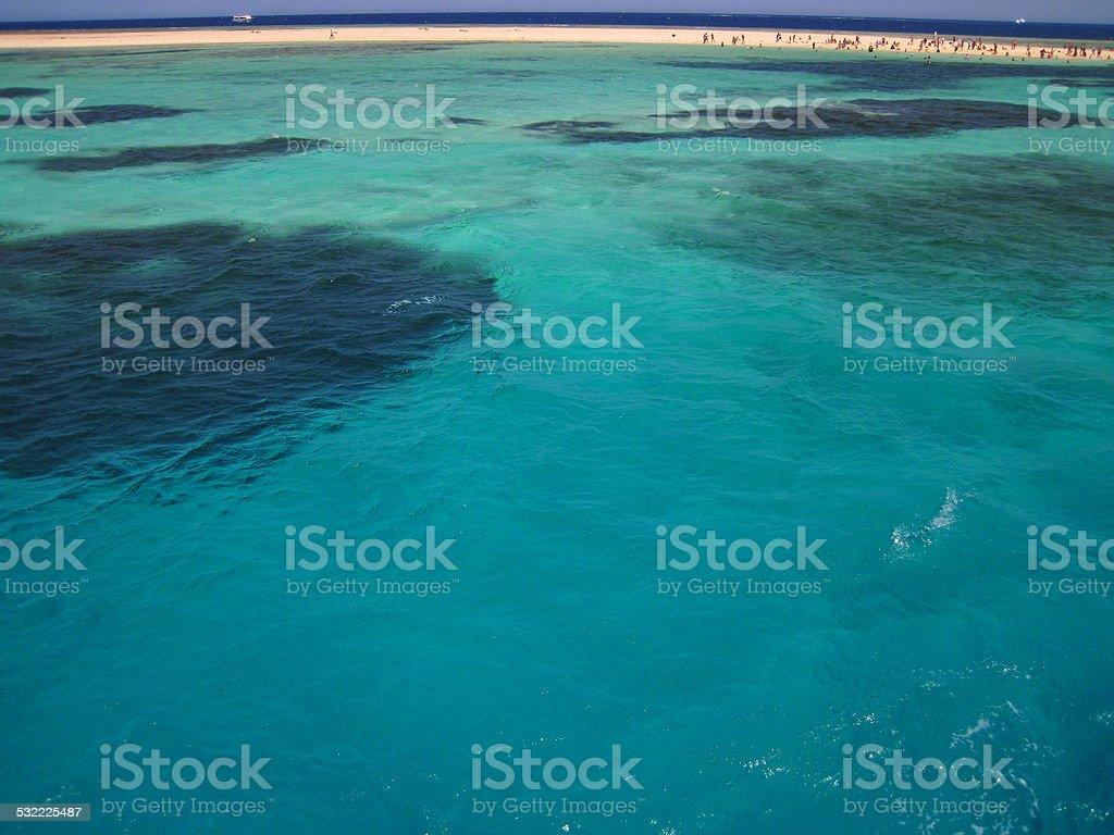 Red Sea desert island stock photo