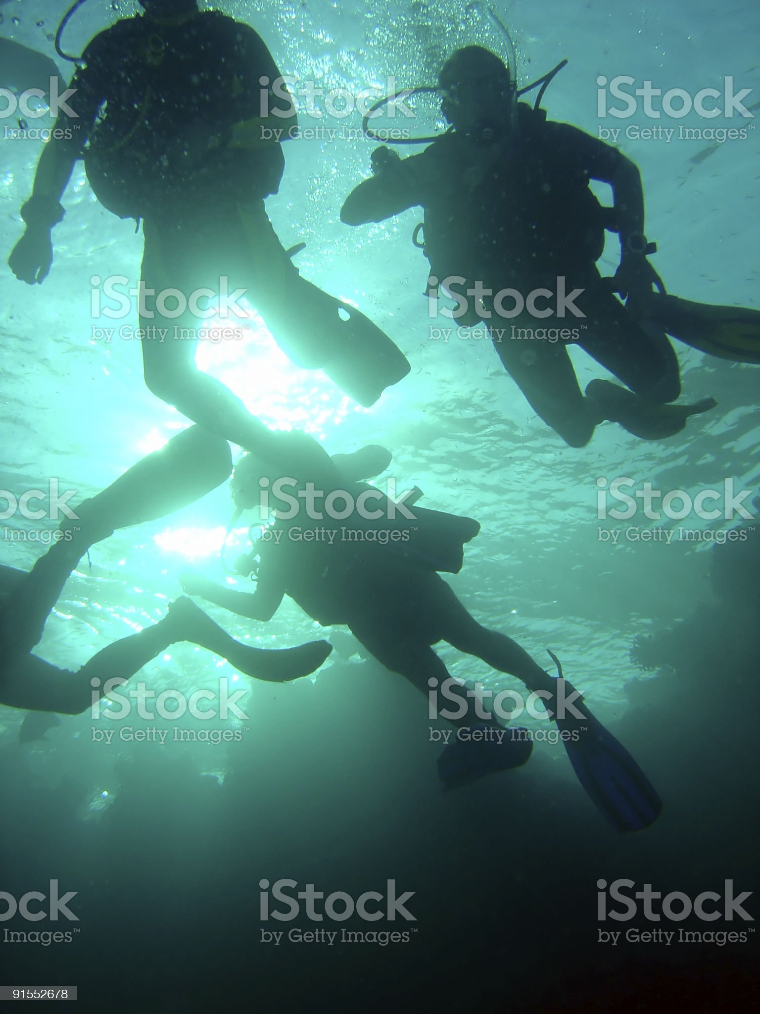 Red Sea divers royalty-free stock photo