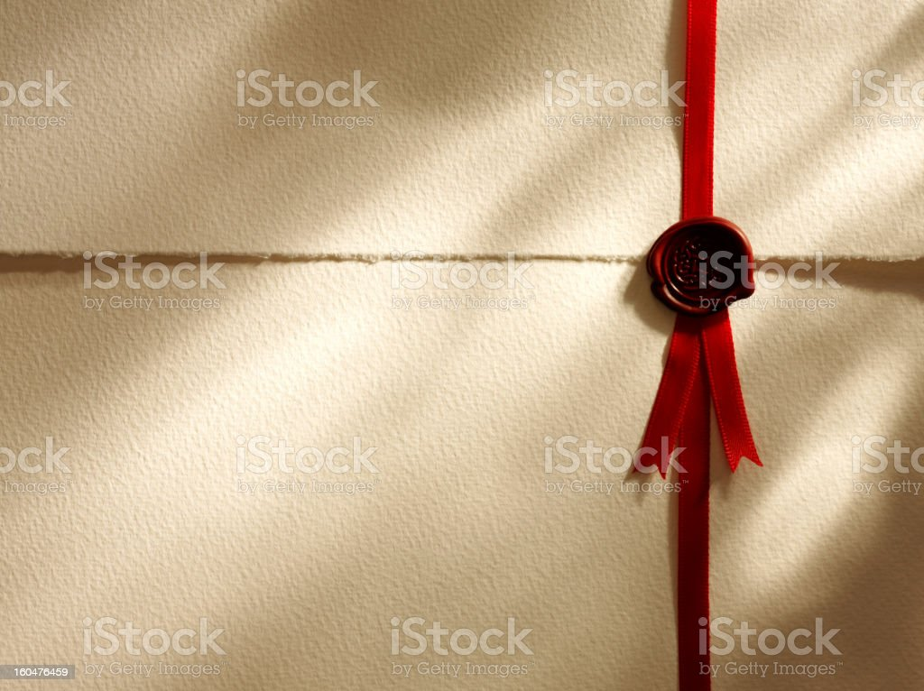 Red Seal of Approval royalty-free stock photo
