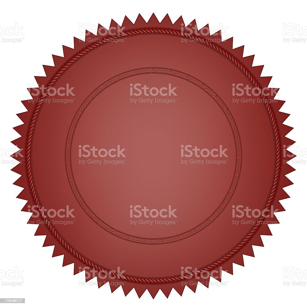 Red Seal royalty-free stock photo