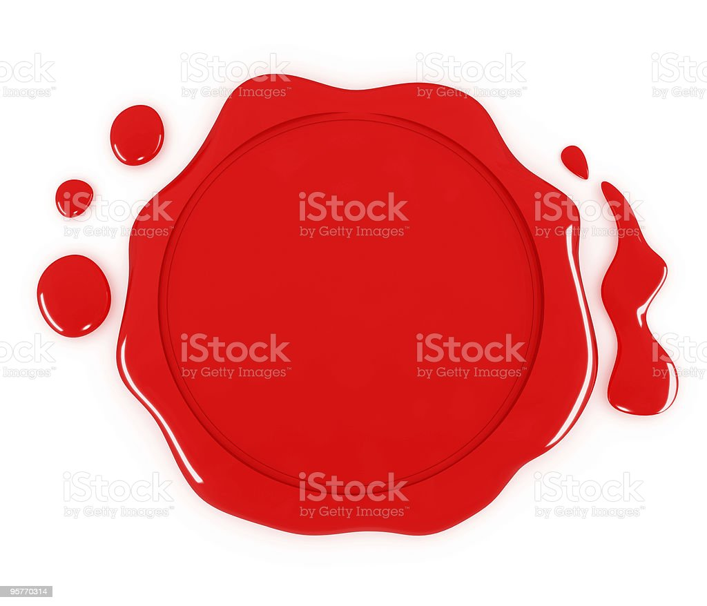 Red Seal stock photo