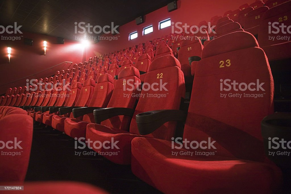 Red Seats royalty-free stock photo