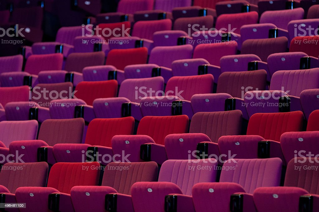 Red Seats stock photo