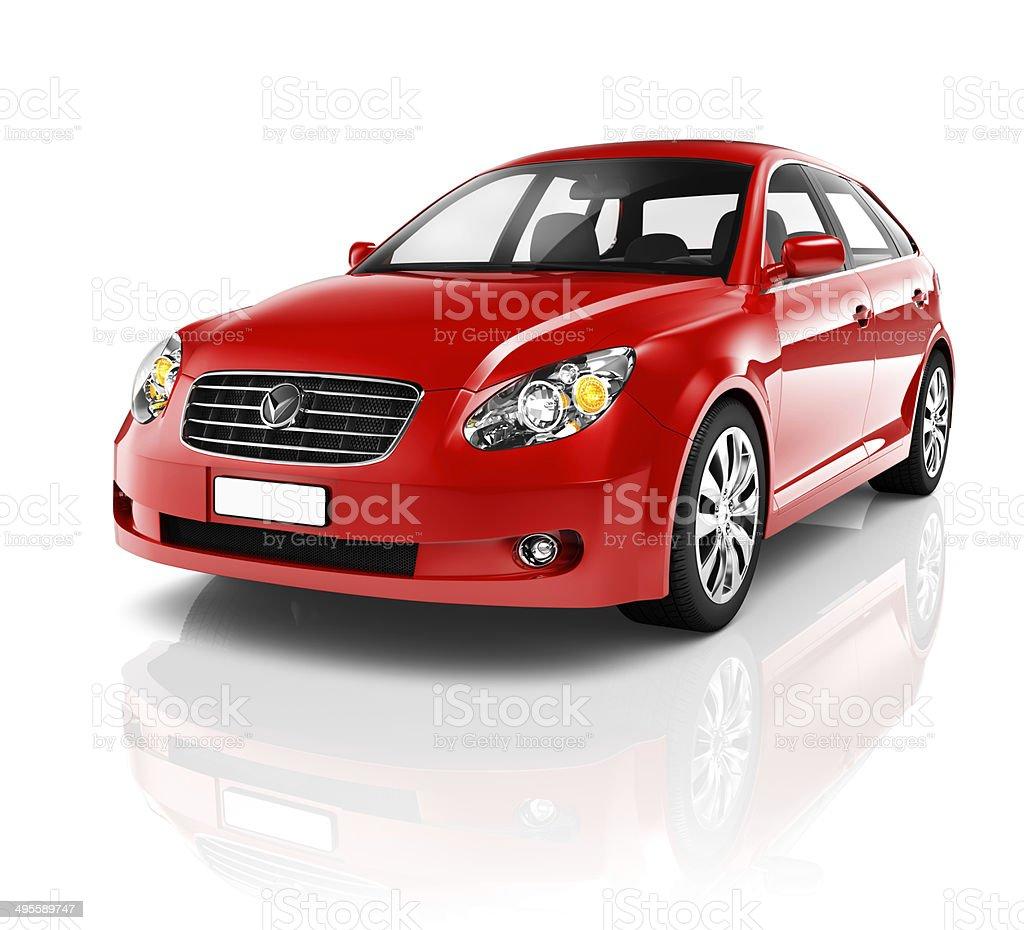 Red Sedan Car stock photo