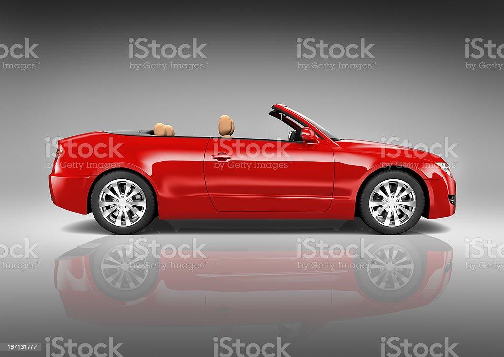 Red Sedan Convertible royalty-free stock photo