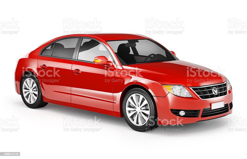 Red Sedan stock photo