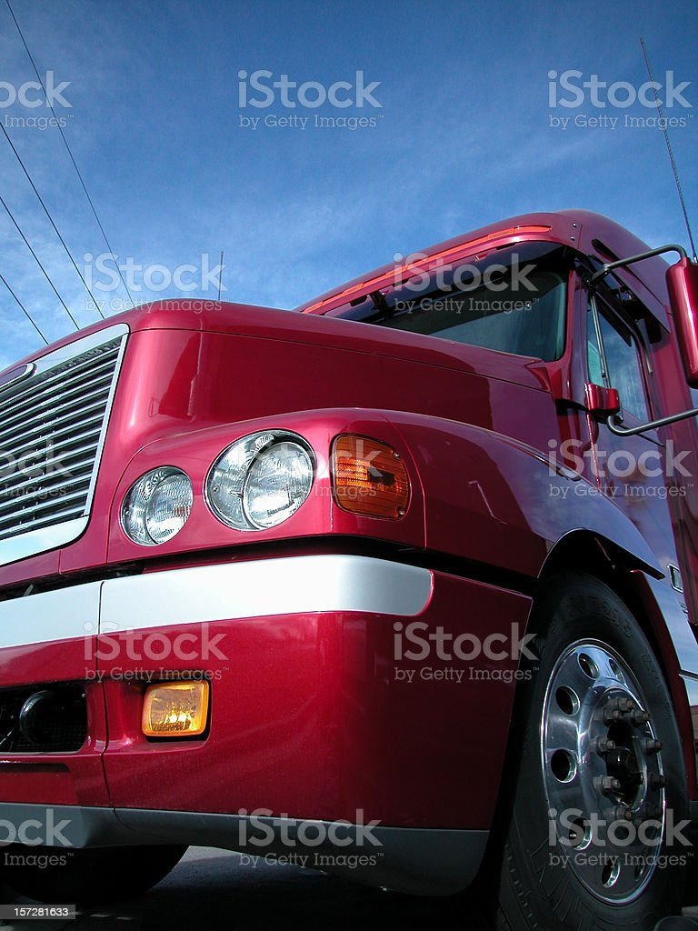 Red Semi Gleaming royalty-free stock photo