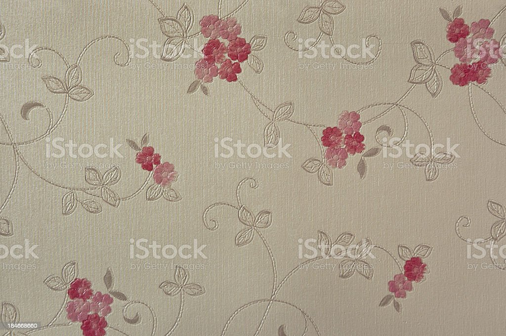 red shade colour flower wall coverings royalty-free stock photo