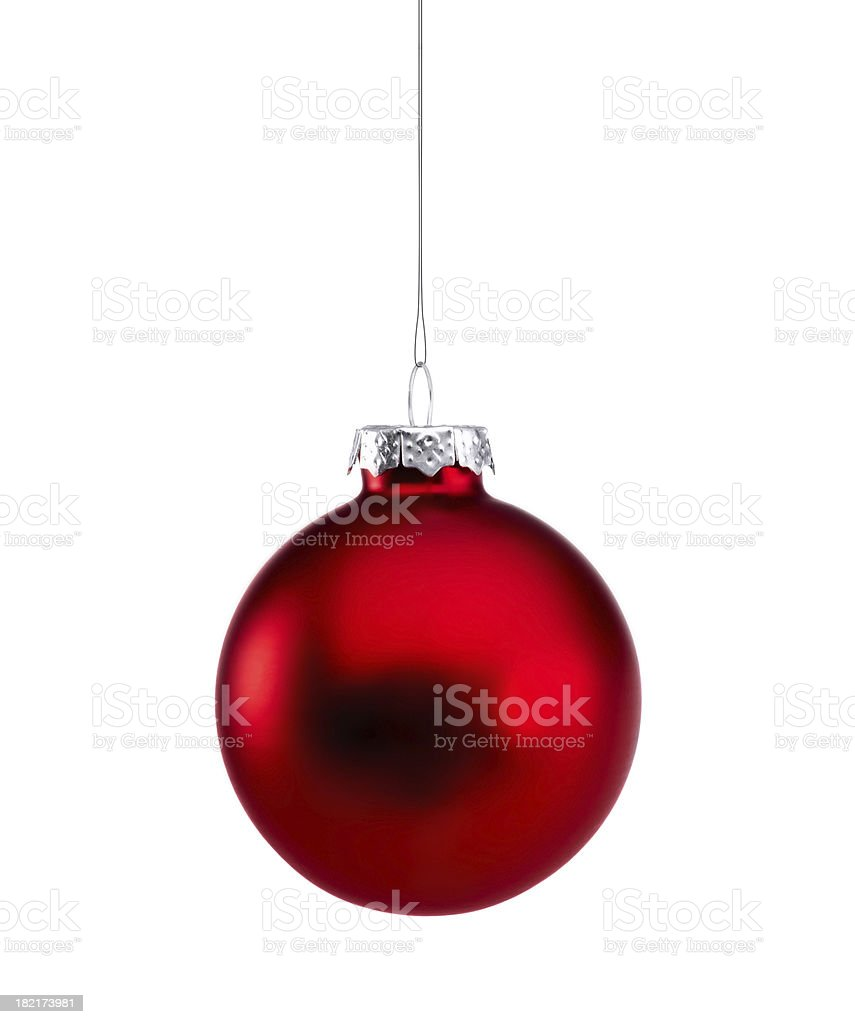 Red Shiny Baubles isolated stock photo