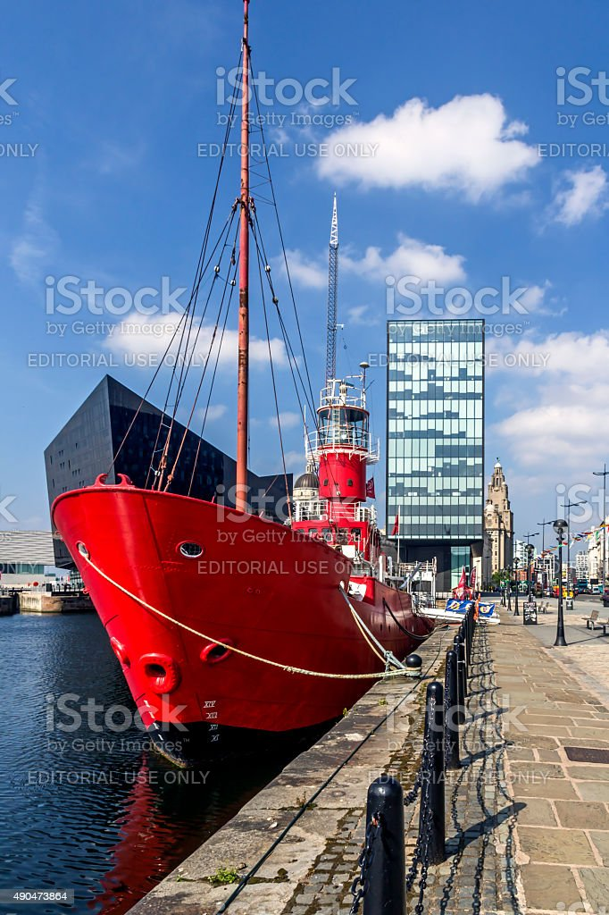 Red Ship Albert Dock Liverpool stock photo
