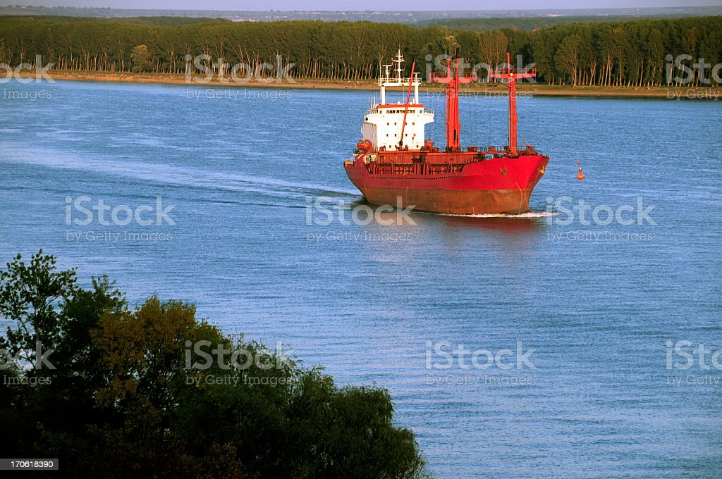 Red ship royalty-free stock photo