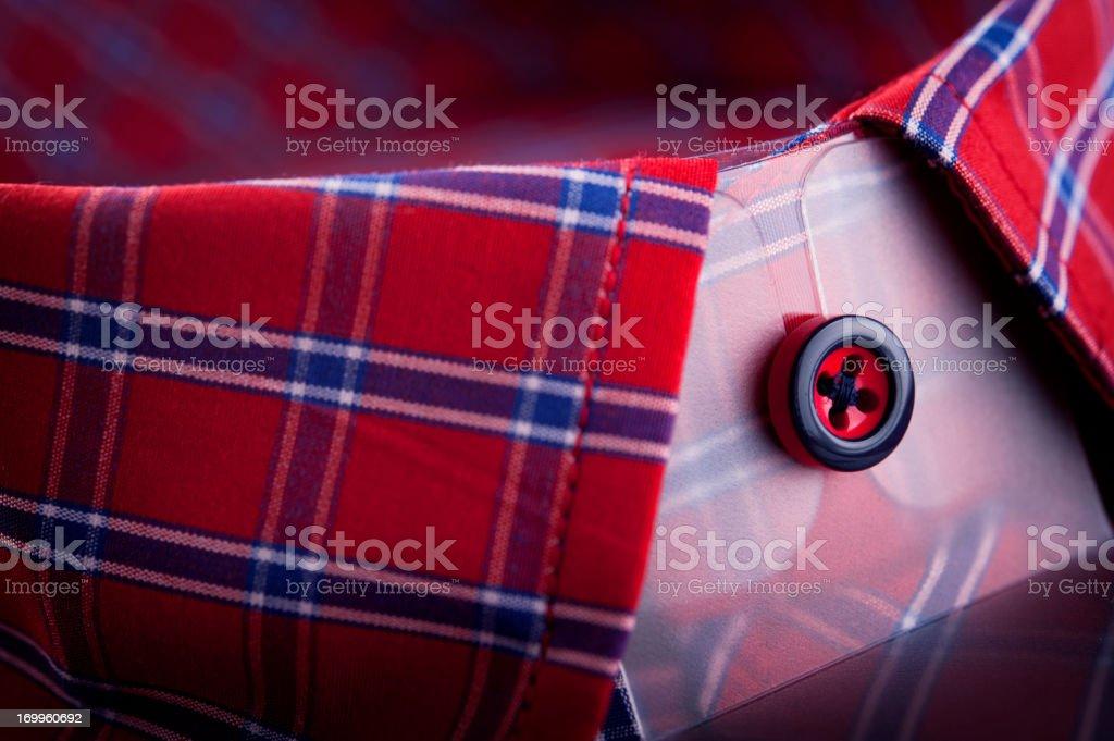 Red shirt collar royalty-free stock photo