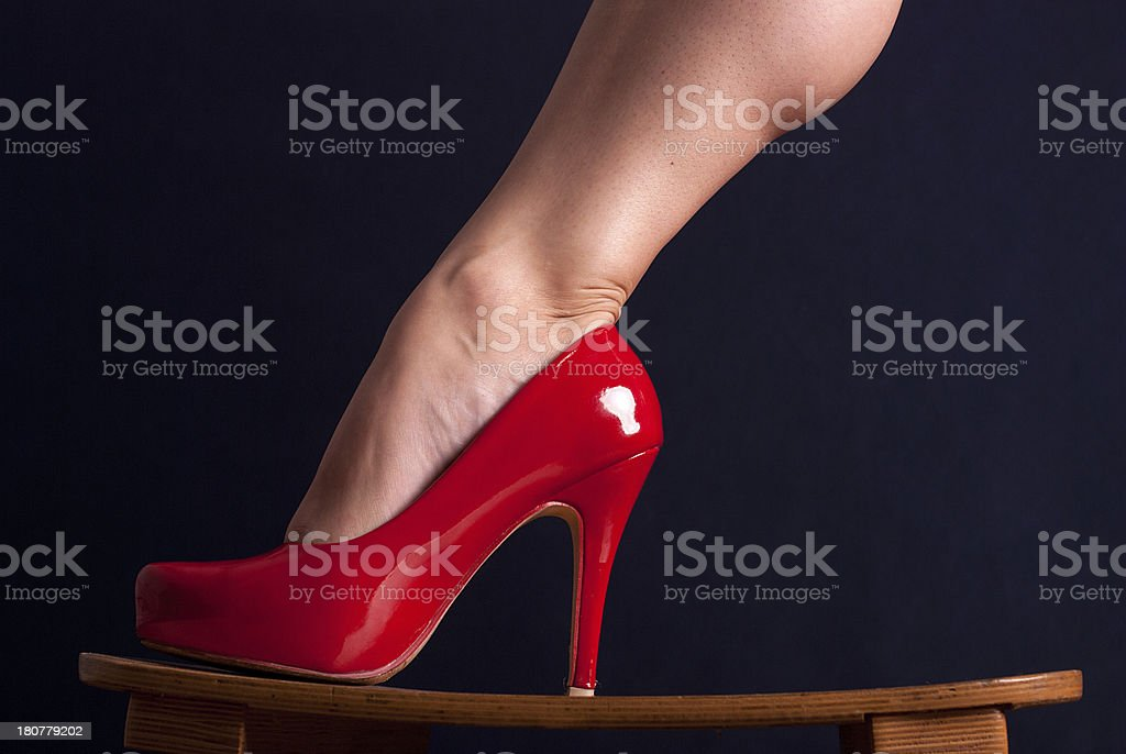 Zapatos de rojo foto de stock libre de derechos