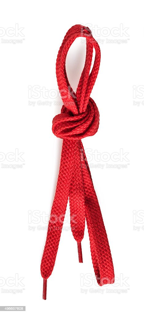 red shoe string stock photo