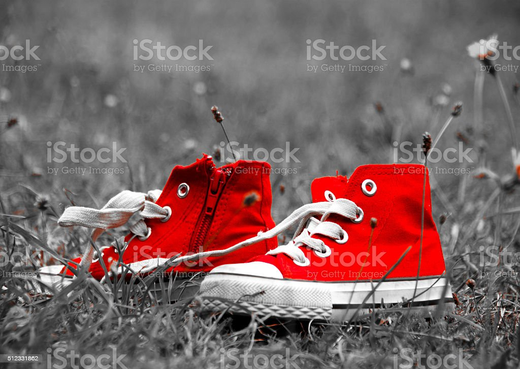 Red Shoes Close-up stock photo
