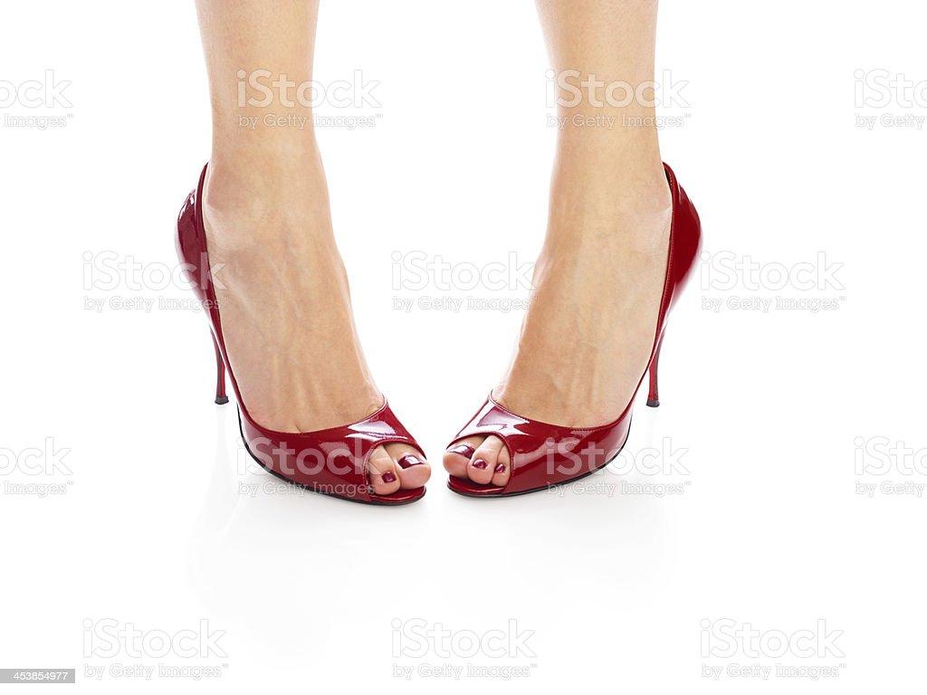 Red shoes (medium format image 60 megapixels) stock photo