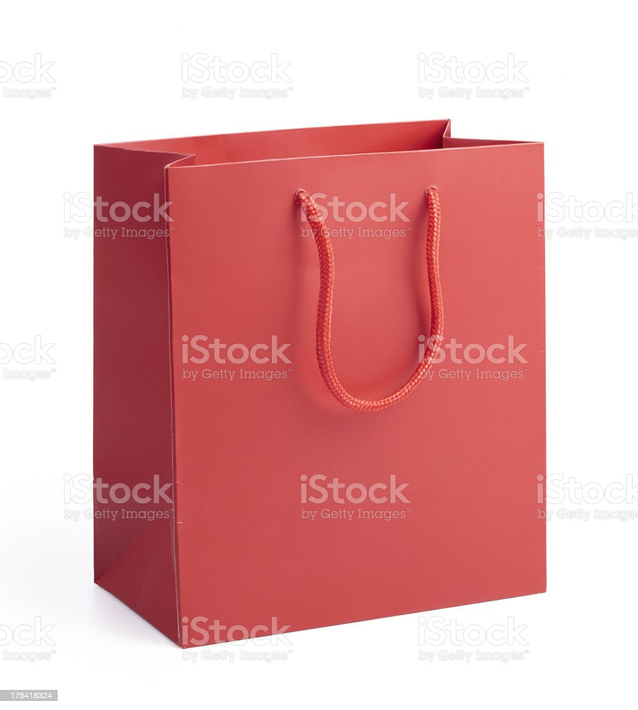 red shopping bag stock photo