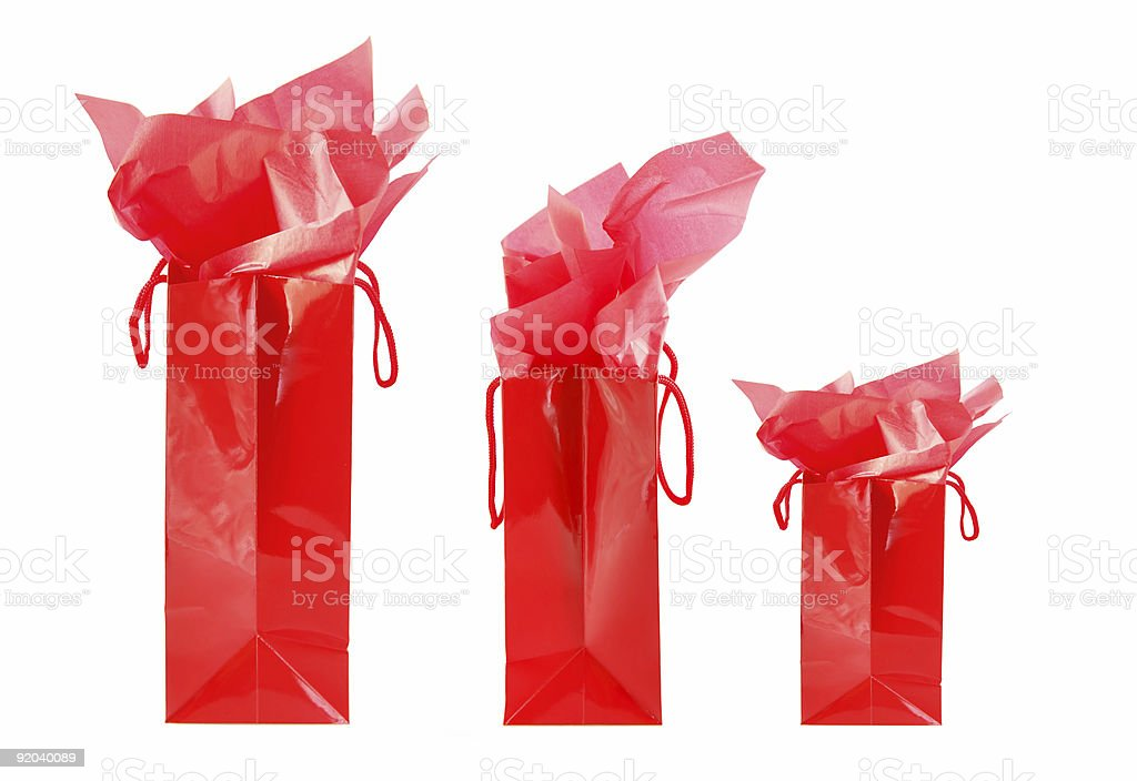 Red shopping bags royalty-free stock photo