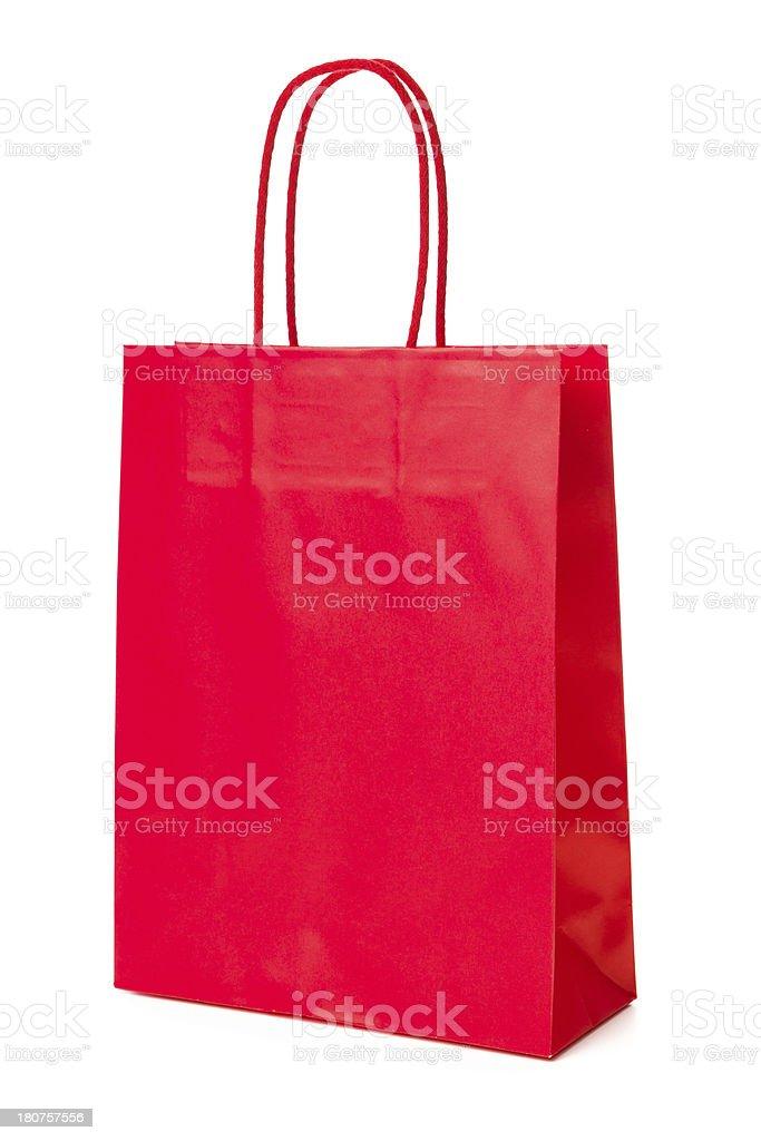 Red Shoppingbag stock photo