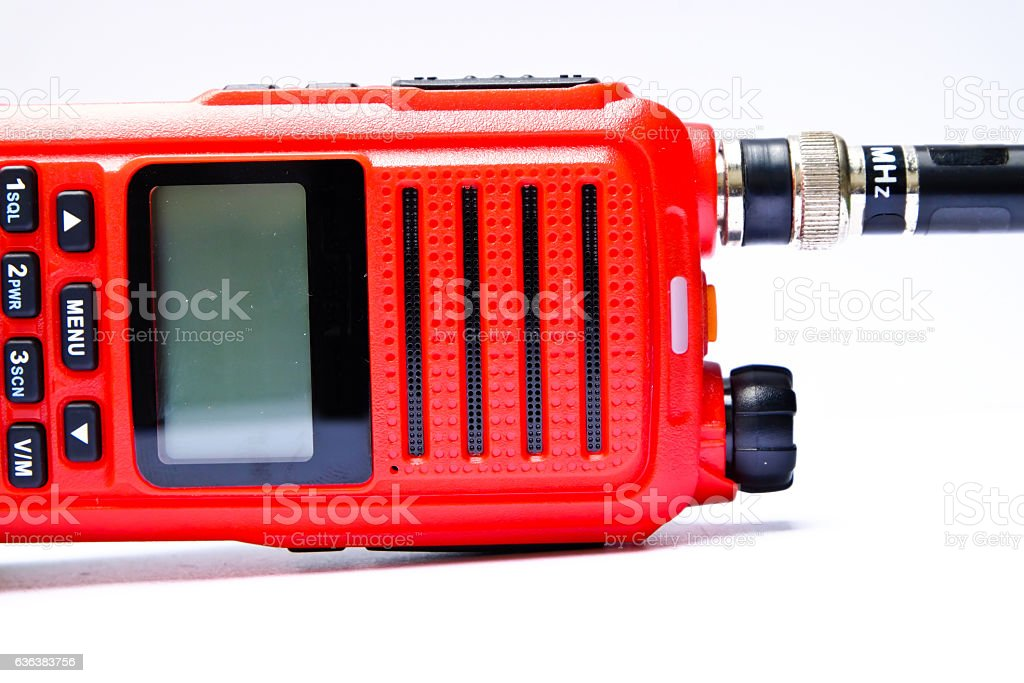 Red short-wave radio stock photo