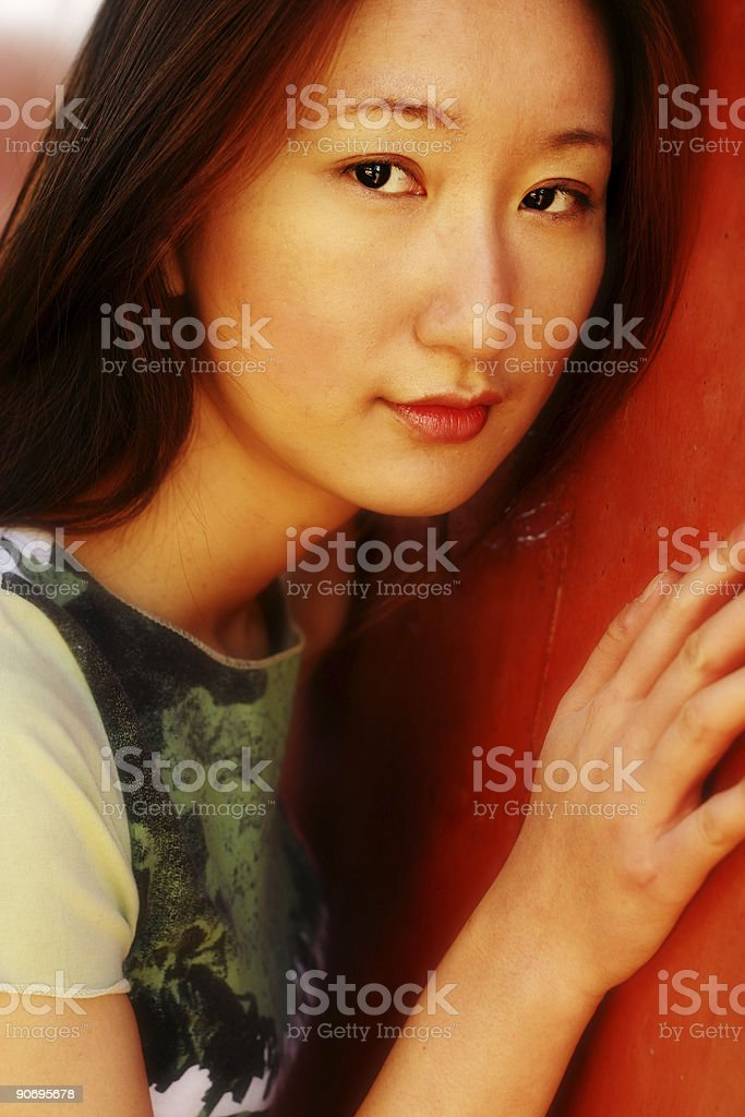 Red Shyness stock photo