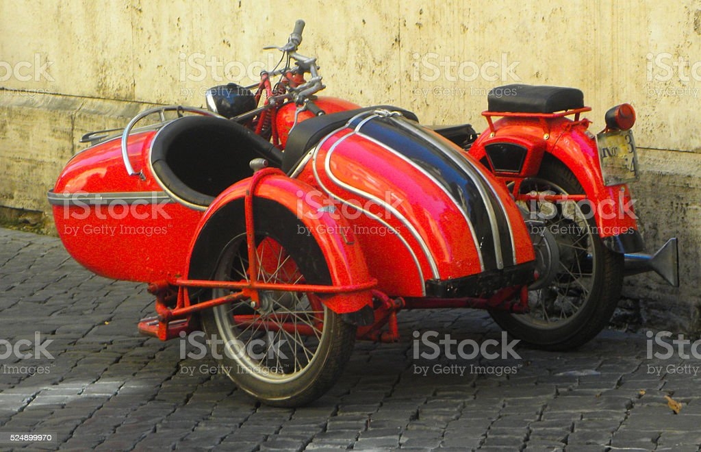 red sidecar stock photo