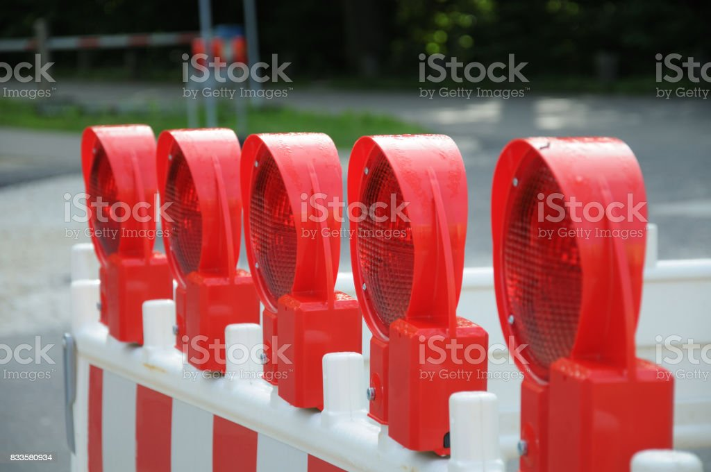 red signal lights stock photo