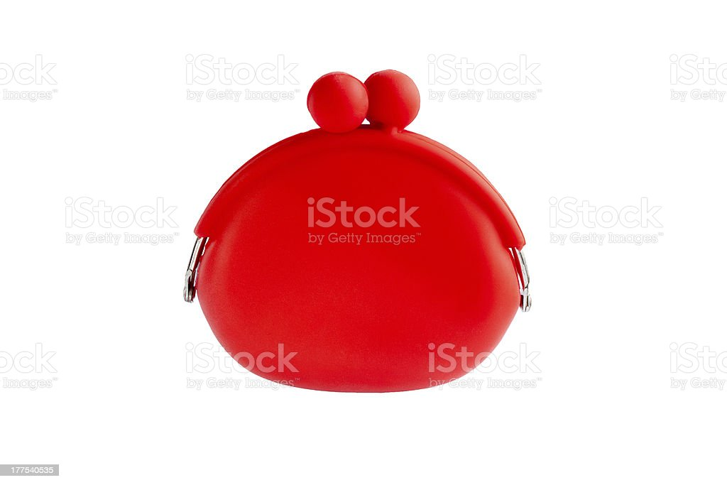 red silicone coin purse royalty-free stock photo