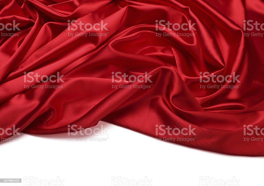 red silk fabric background stock photo