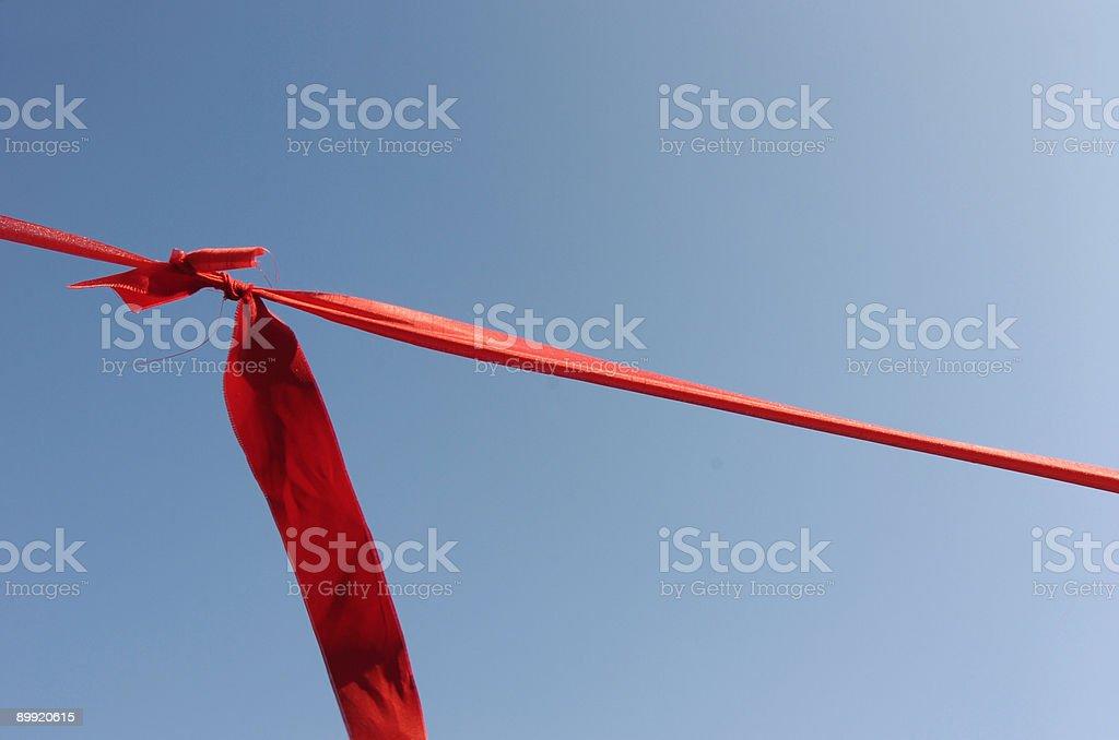 Red silk ribbon royalty-free stock photo