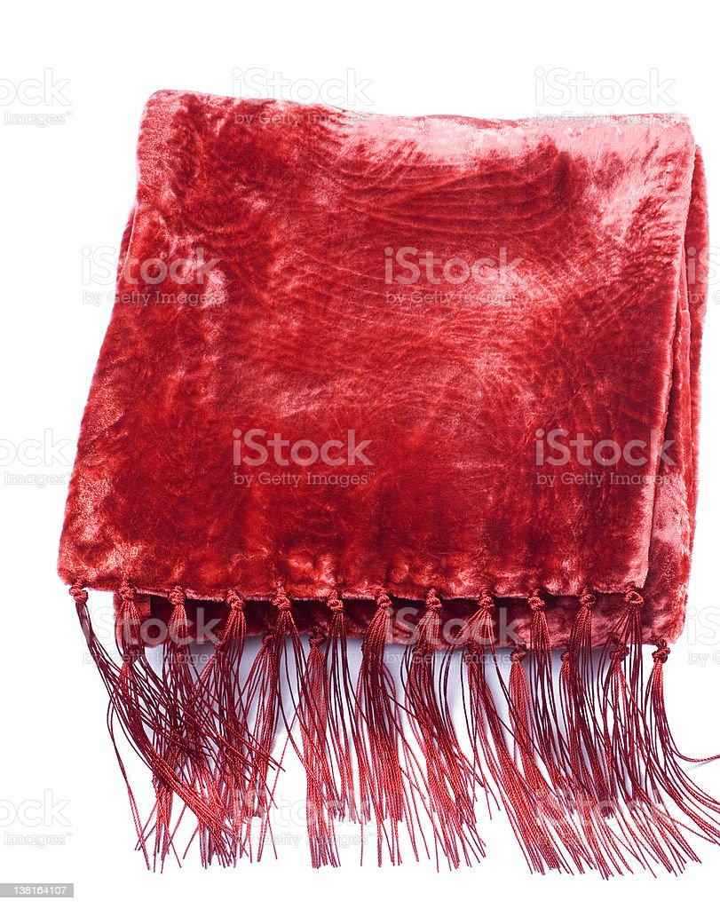 red Silk scarf top view royalty-free stock photo