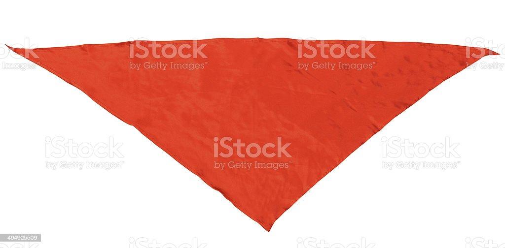 red silk triangular neckerchief stock photo