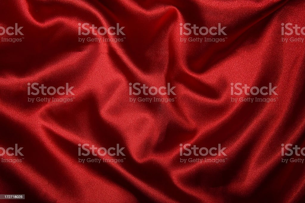 red silky fabric royalty-free stock photo