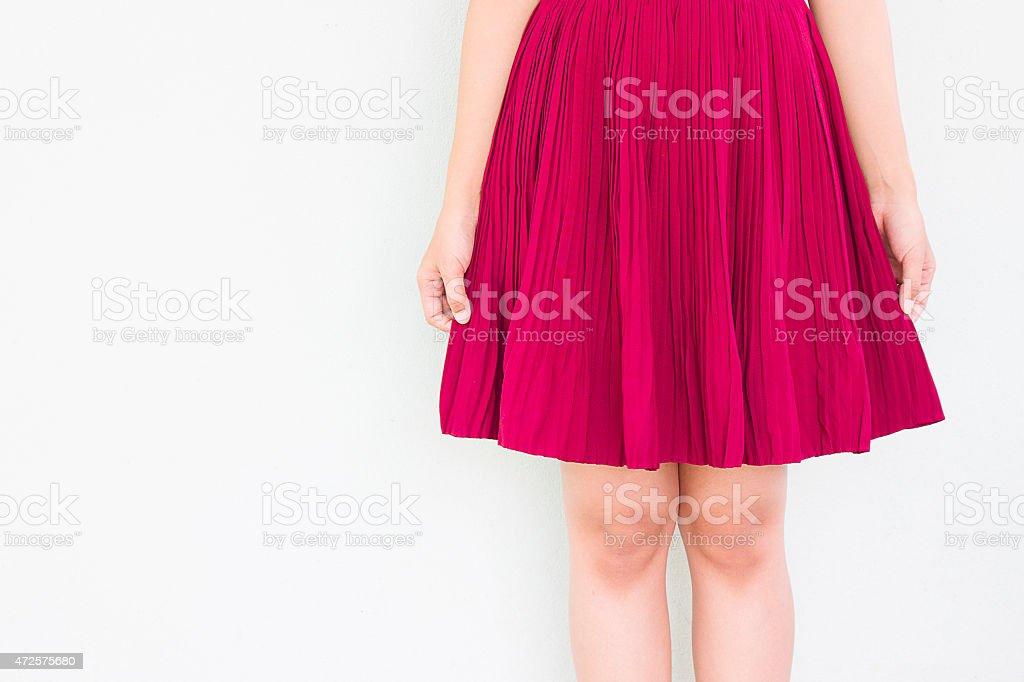 Red skirt stock photo
