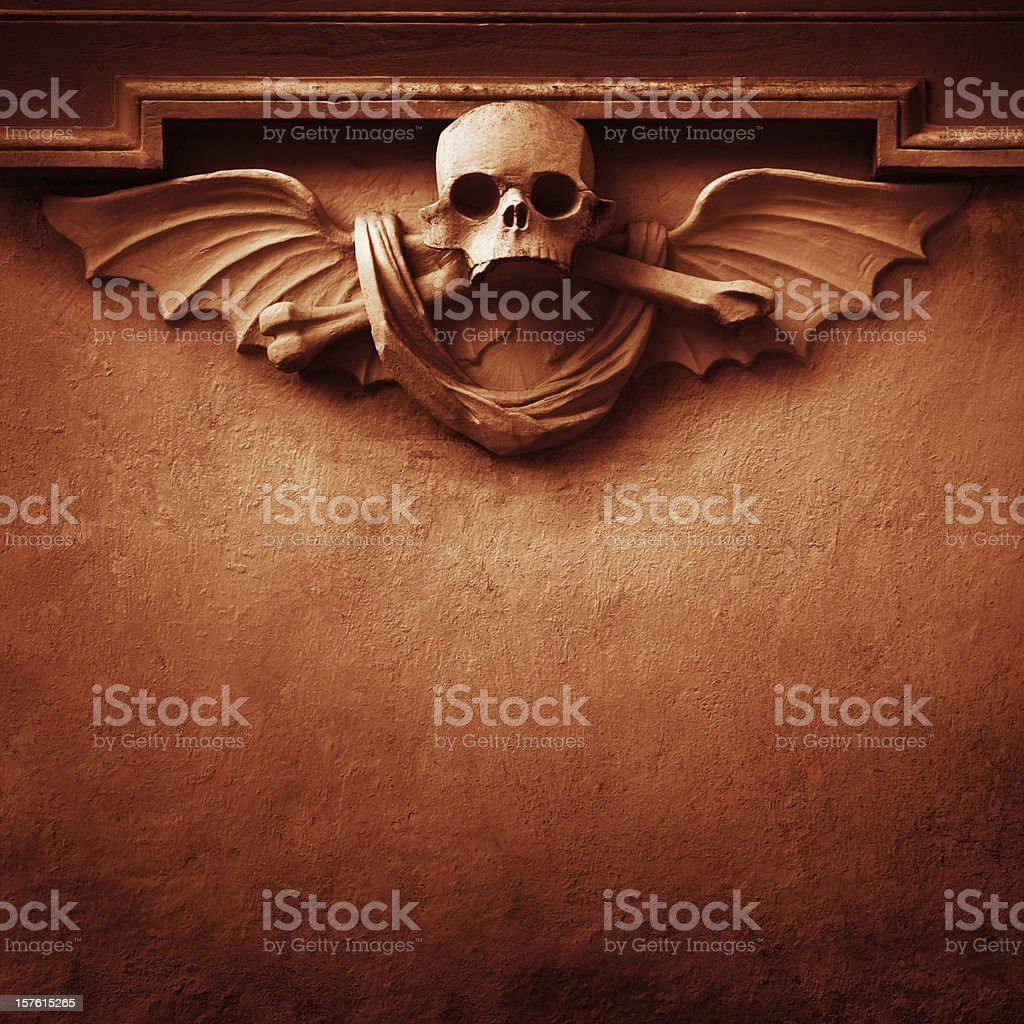Red skull background stock photo