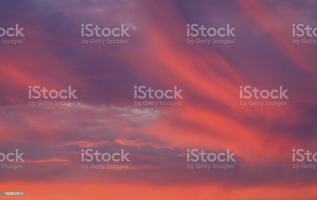 Red sky at sunset. royalty-free stock photo