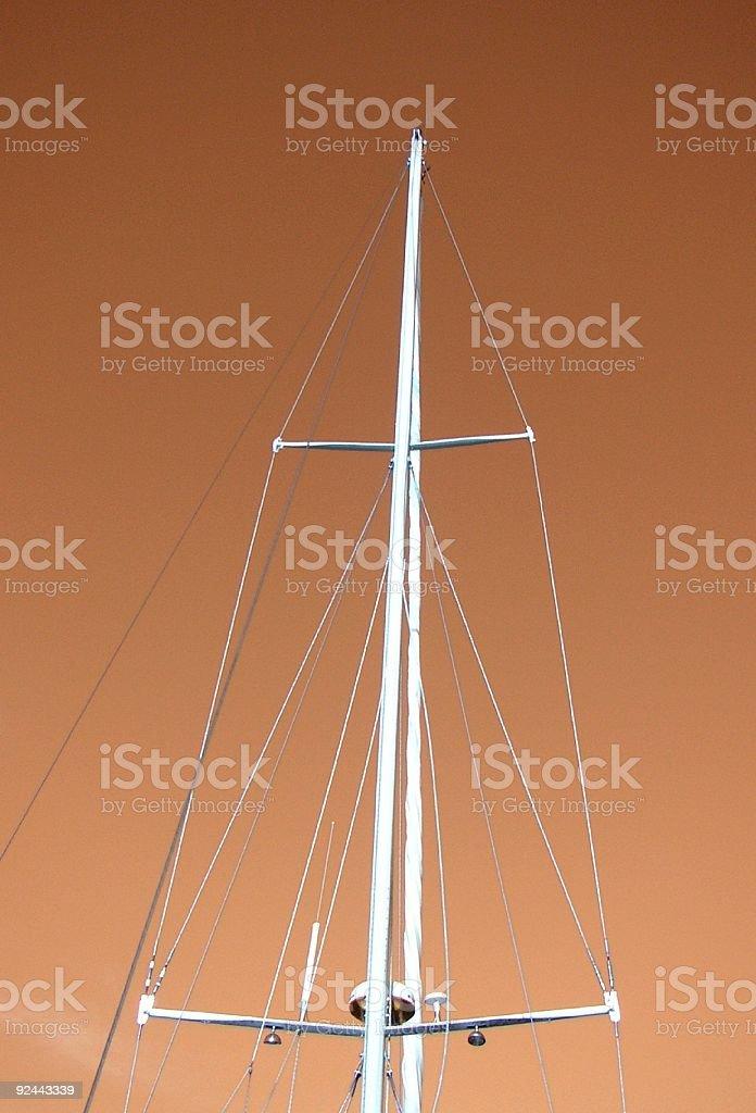 Red sky mast royalty-free stock photo