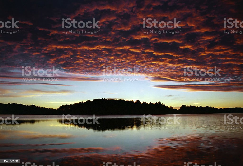 Red Sky royalty-free stock photo