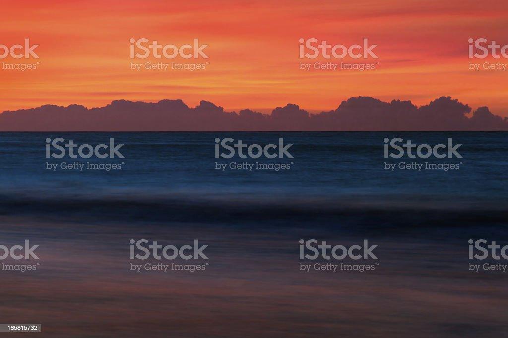 Red Sky Paesaggio marino foto stock royalty-free