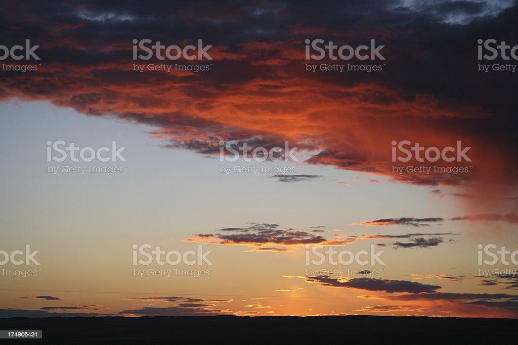 red sky tonight royalty-free stock photo