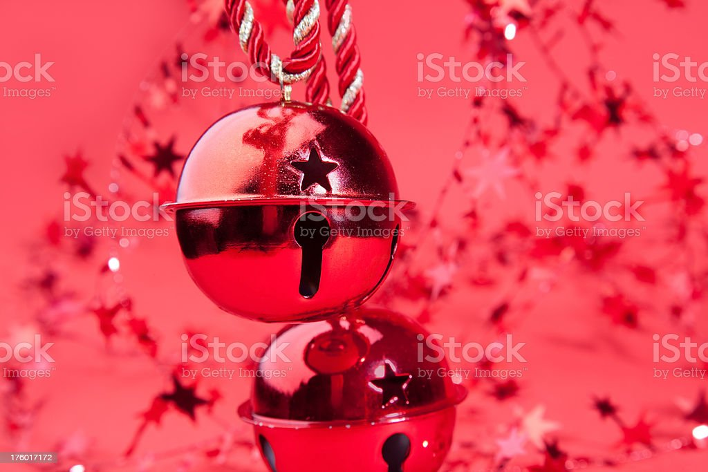 Red Sleigh Bells stock photo