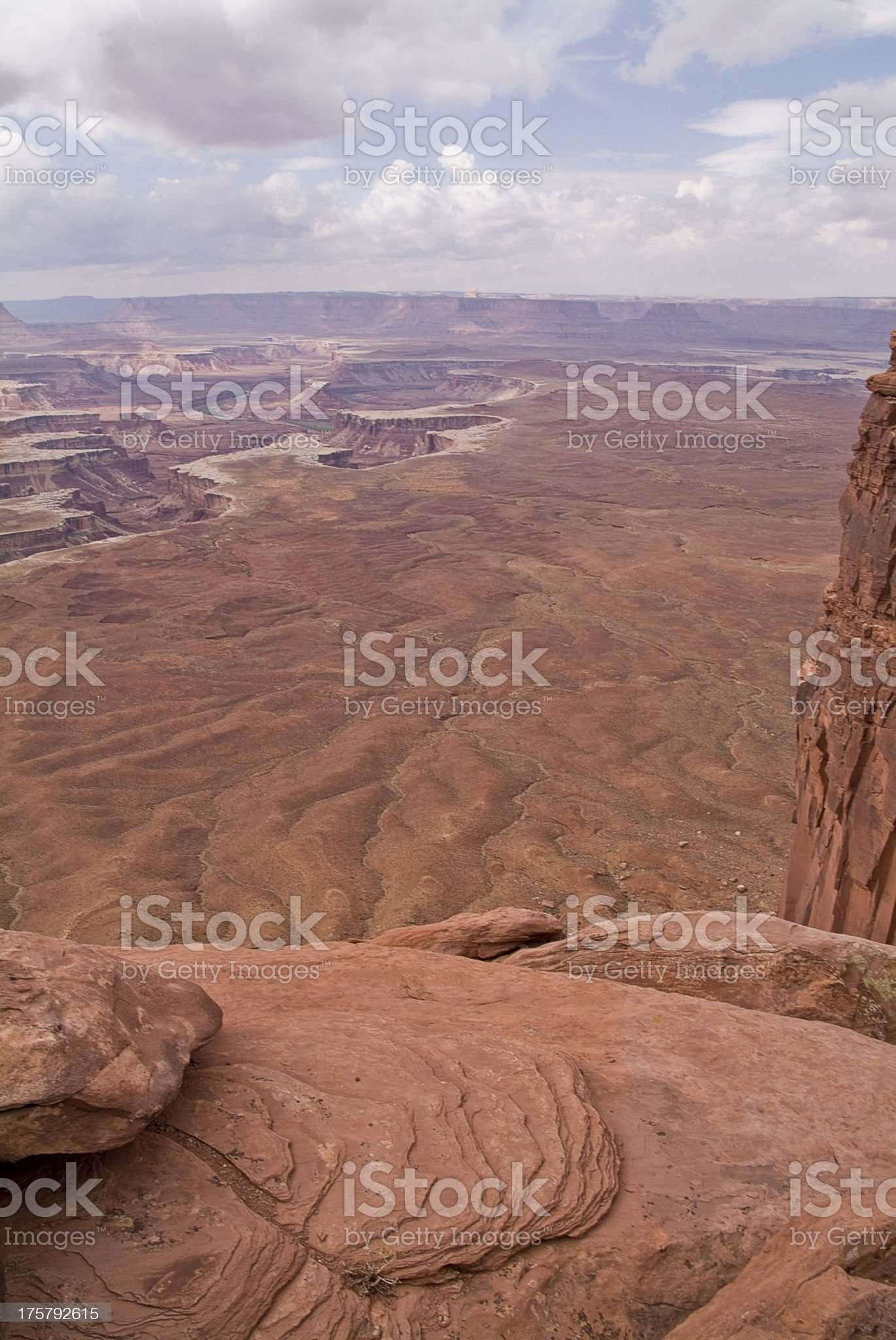 Red Slick Rock Boulders Overlooking Green River Canyonlands Southwest Utah royalty-free stock photo