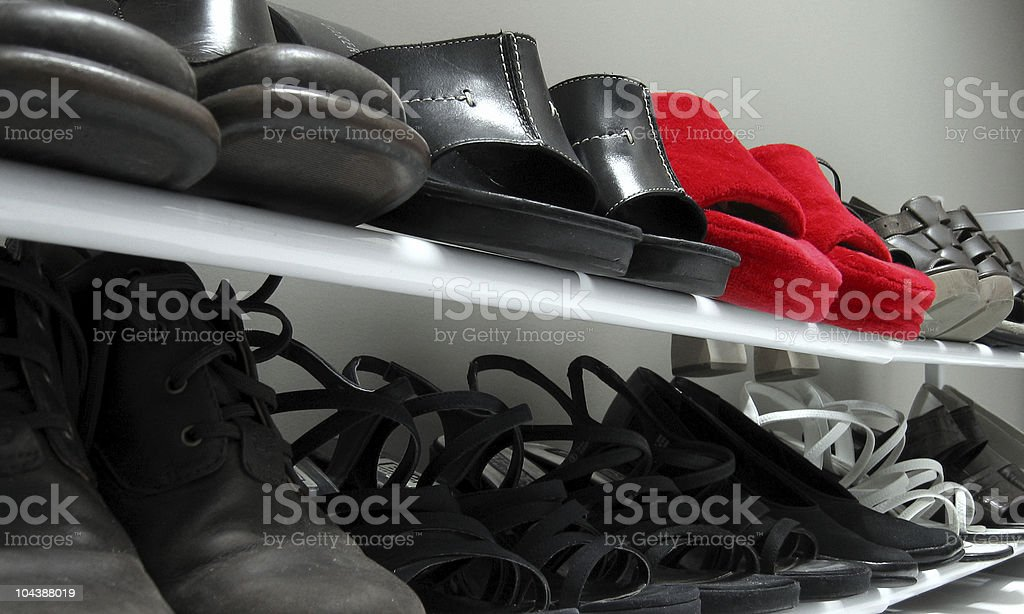 Red Slippers royalty-free stock photo