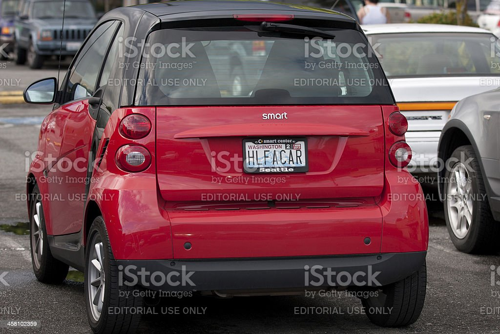 Red Smart Car royalty-free stock photo