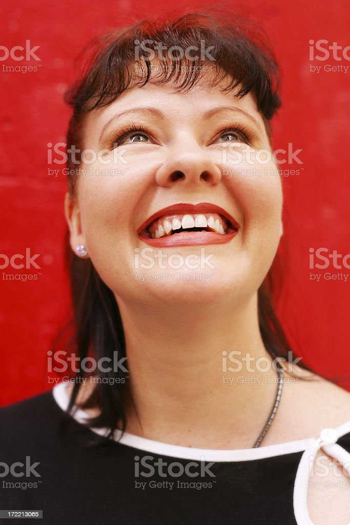 Red Smile stock photo
